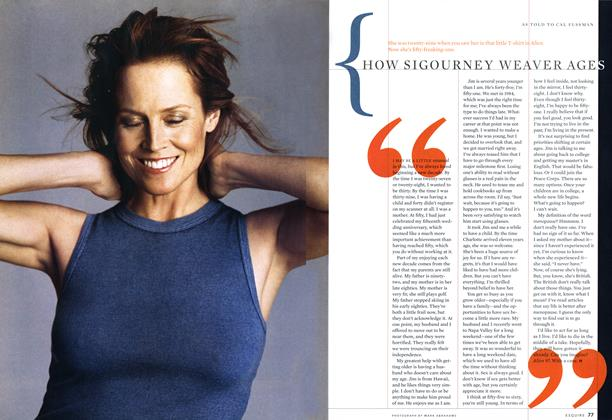 Article Preview: How Sigourney Weaver Ages, August 2001 | Esquire