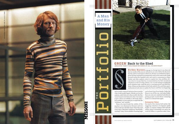 Article Preview: Back to the Shed, SEPTEMBER 2001 2001 | Esquire