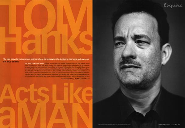 Article Preview: Tom Hanks Acts Like a Man, September 2001 | Esquire
