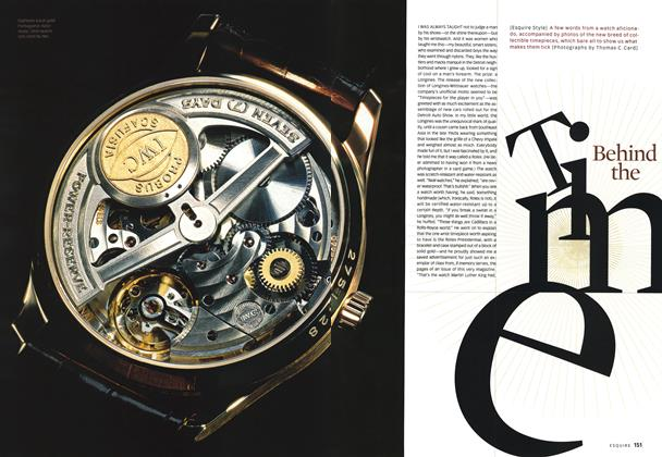 Article Preview: Behind the Time, November 2001 | Esquire