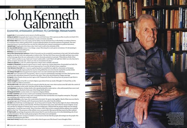 Article Preview: John Kenneth Galbraith, JANUARY 2002 2002 | Esquire