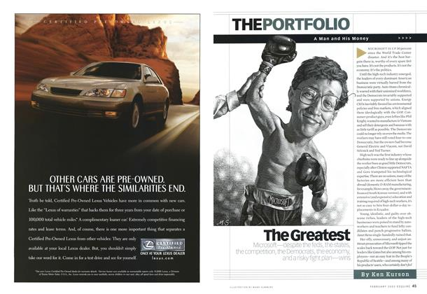 Article Preview: The Greatest, FEBRUARY 2002 2002 | Esquire