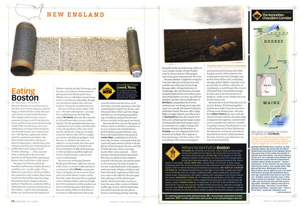 Article Preview: Eating Boston, JULY 2002 2002   Esquire