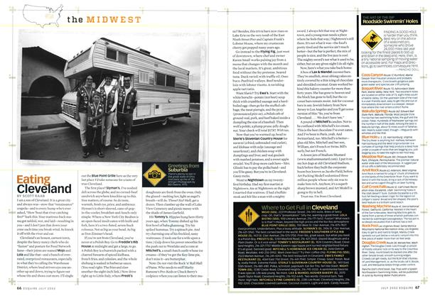 Article Preview: Eating Cleveland, JULY 2002 2002 | Esquire