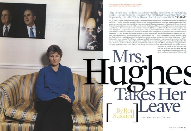 Mrs. Hughes Takes Her Leave