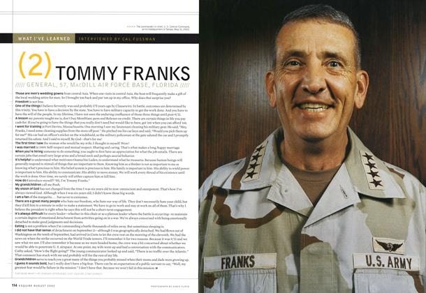 Article Preview: Tommy Franks, August 2002 | Esquire