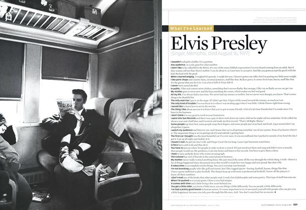 Article Preview: Elvis Presley, SEPTEMBER 2002 2002 | Esquire