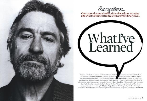 Article Preview: Robert De Niro, JANUARY 2003 2003 | Esquire