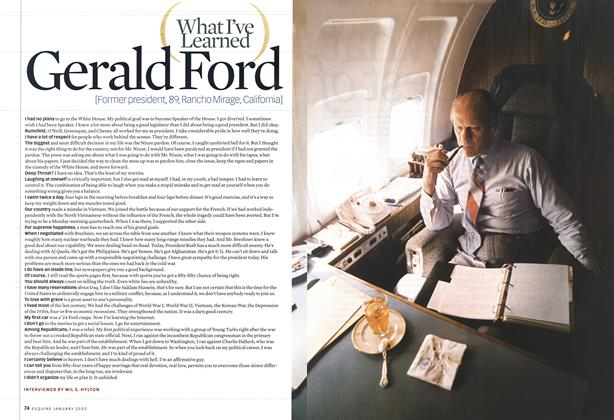 Article Preview: Gerald Ford, JANUARY 2003 2003 | Esquire