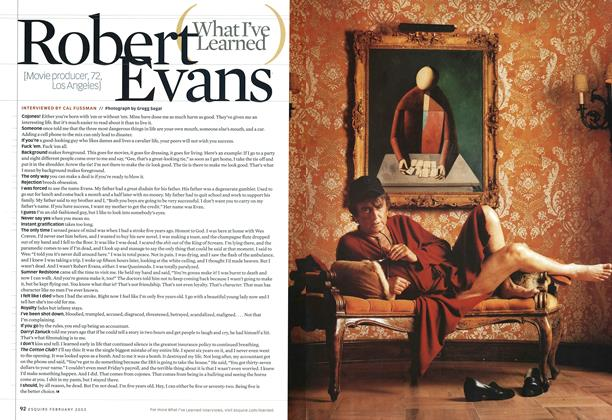 Article Preview: Robert Evans, FEBRUARY 2003 2003 | Esquire