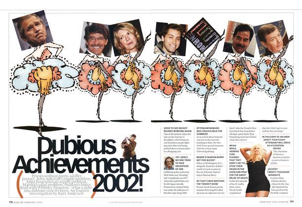 Dubious Achievements 2002!
