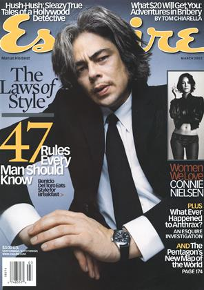 Cover for the March 2003 issue