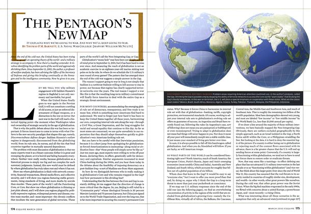 Article Preview: The Pentagon's New Map, MARCH 2003 2003 | Esquire