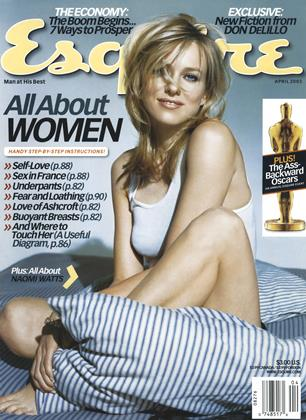 Cover for the April 2003 issue