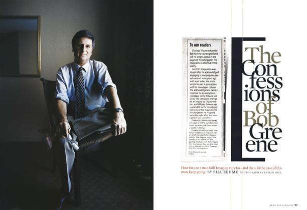 Article Preview: The Confessions of Bob Greene, April 2003 | Esquire