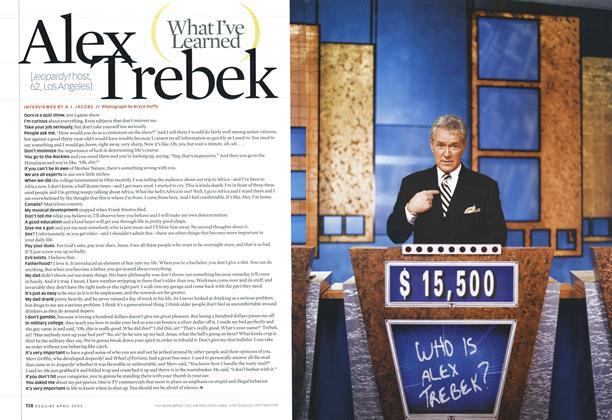 Article Preview: Alex Trebek, April 2003 | Esquire