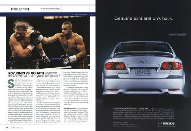 Article Preview: Roy Jones vs. Goliath, June 2003   Esquire