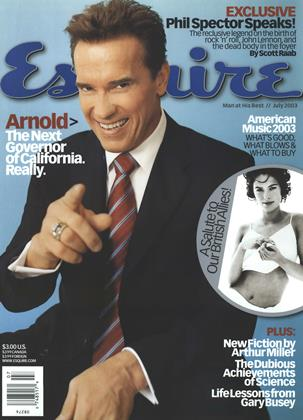 Cover for the July 2003 issue
