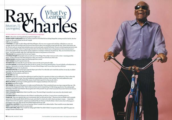 Article Preview: Ray Charles, August 2003 2003 | Esquire