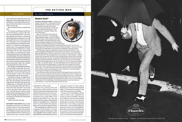 Article Preview: Need a Tout?, SEPTEMBER 2003 2003   Esquire