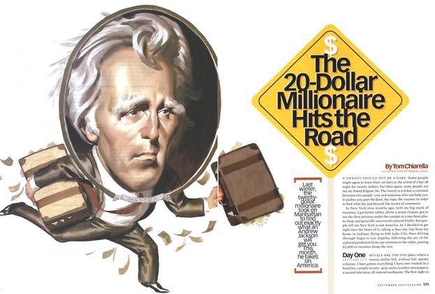 Article Preview: The 20-Dollar Millionaire Hits the Road, September 2003 | Esquire