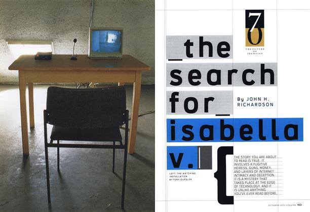Article Preview: The Search for Isabella V., October 2003 | Esquire