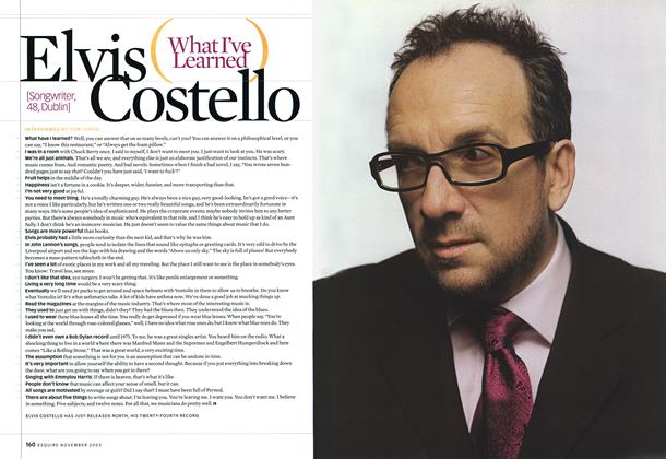 Article Preview: Elvis Costello, November 2003 2003 | Esquire
