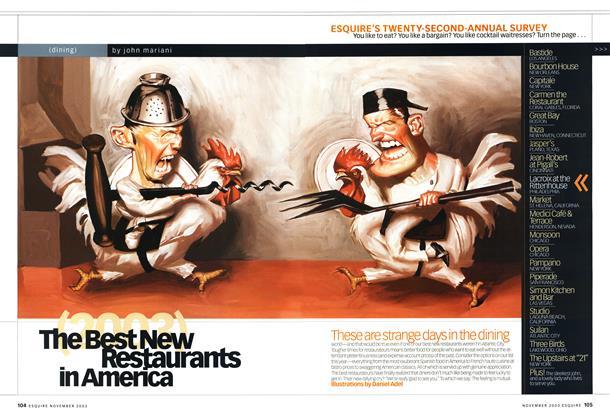 The Best New Restaurants in America, 2003