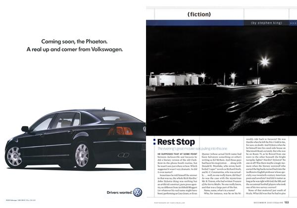 Article Preview: Rest Stop, December 2003 2003 | Esquire