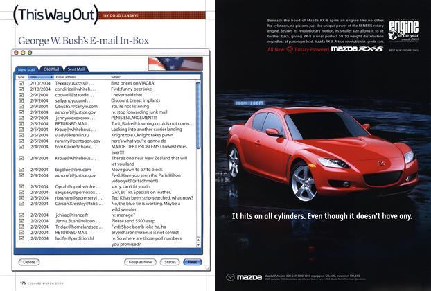 Article Preview: George W. Bush's E-mail In-box, March 2004 2004 | Esquire