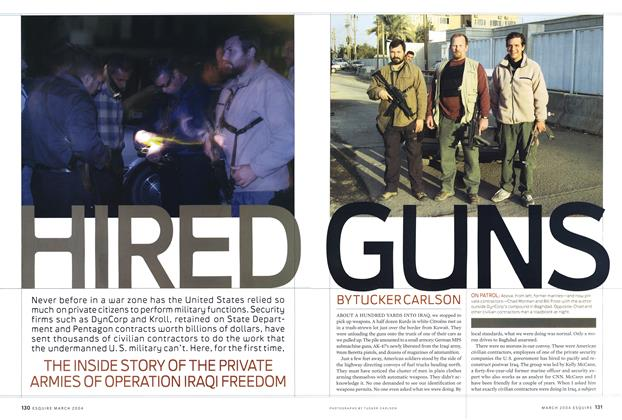 Article Preview: Hired Guns, March 2004 | Esquire