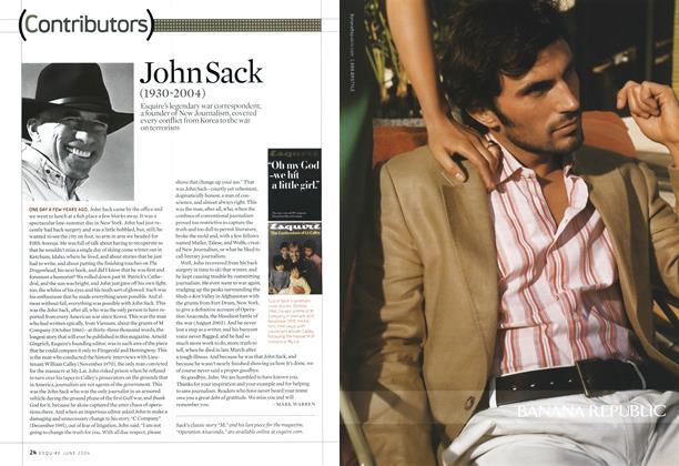 Article Preview: John Sack, June 2004 2004 | Esquire