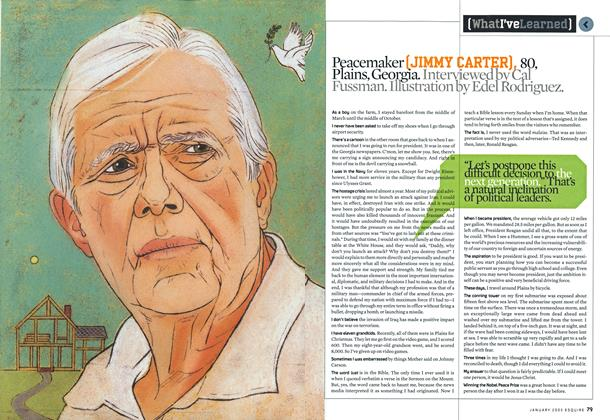 Article Preview: Jimmy Carter, January 2005 | Esquire