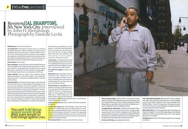 Article Preview: Al Sharpton, January 2005 2005 | Esquire