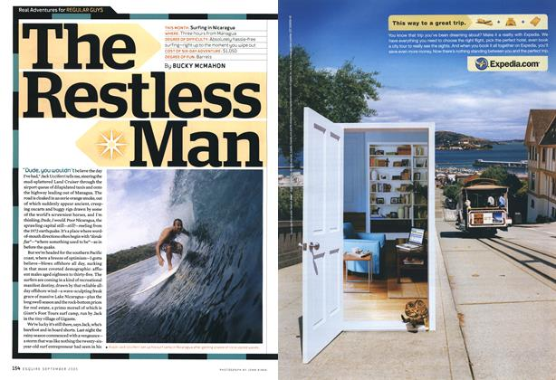Article Preview: The Restless Man, September 2005 | Esquire