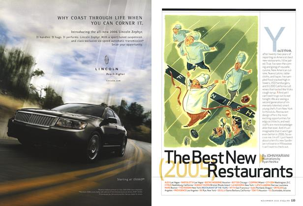 Article Preview: The Best New Restaurants (2005), November 2005 | Esquire
