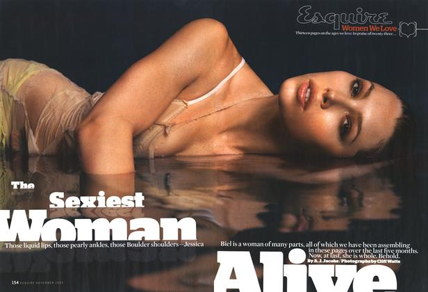 Article Preview: The Sexiest Woman Alive, November 2005 | Esquire