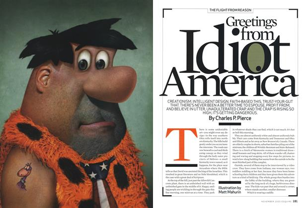 Article Preview: Greetings from Idiot America, November 2005 | Esquire