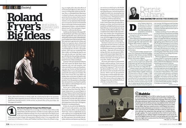 Article Preview: Roland Fryer's Big Ideas, DECEMBER 2005 2005   Esquire