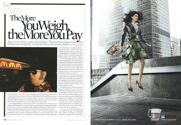 Article Preview: The More You Weigh, the More You Pay, April 2006 | Esquire