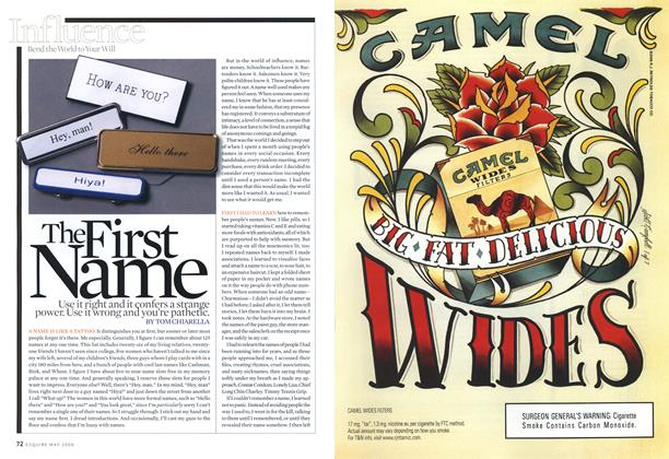 Article Preview: The First Name, May 2006 | Esquire