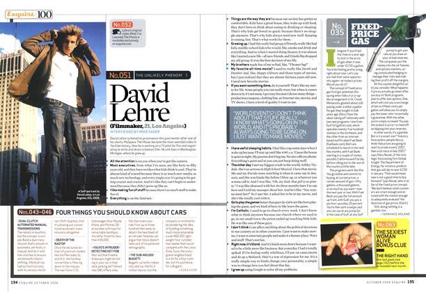 Article Preview: David Lehre, October 2006 | Esquire