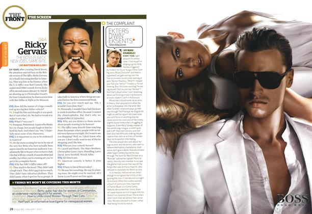 Article Preview: Q&a: Ricky Gervais, JANUARY 2007 2007 | Esquire