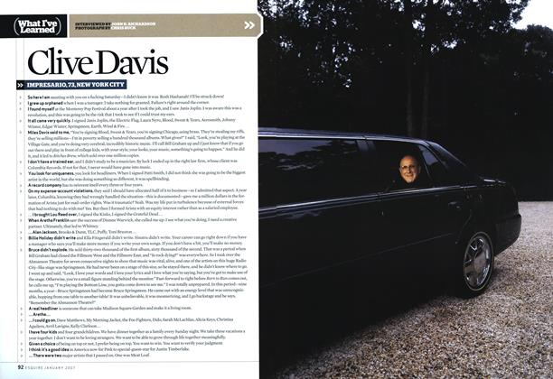 Article Preview: Clive Davis, JANUARY 2007 2007 | Esquire