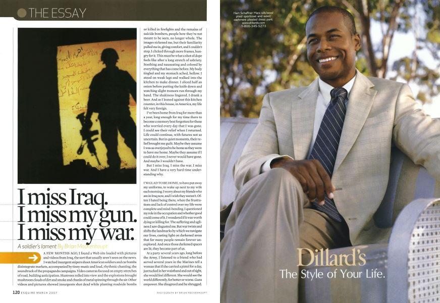 I Miss Iraq  I Miss My Gun  I Miss My War  | Esquire | MARCH