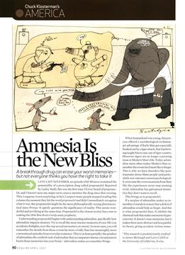 Amnesia Is the New Bliss, Page: 90 - April 2007 | Esquire