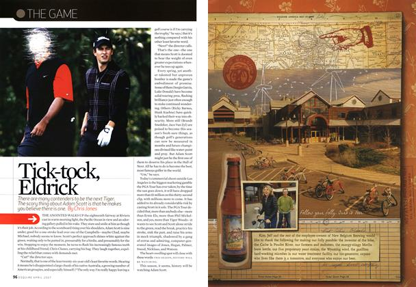 Article Preview: Tick-Tock, Eldrick, April 2007 | Esquire
