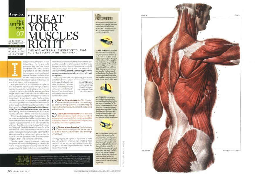Treat Your Muscles Right | Esquire | MAY 2007