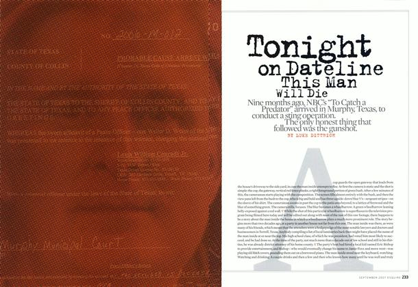 Article Preview: Tonight on Dateline This Man Will Die, September 2007 | Esquire