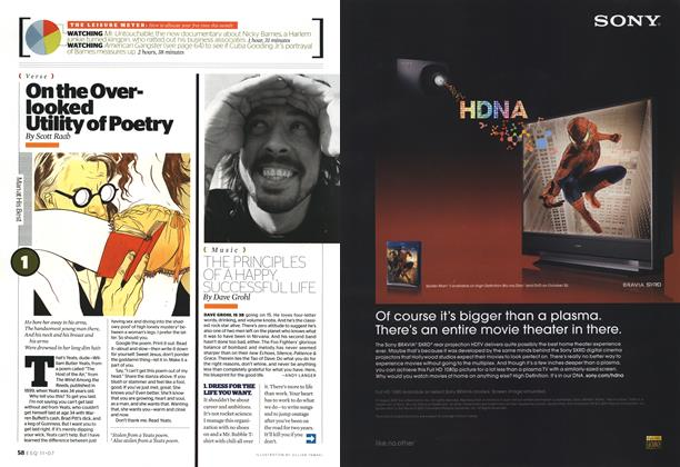 Article Preview: On the Overlooked Utility of Poetry, NOVEMBER 2007 2007 | Esquire